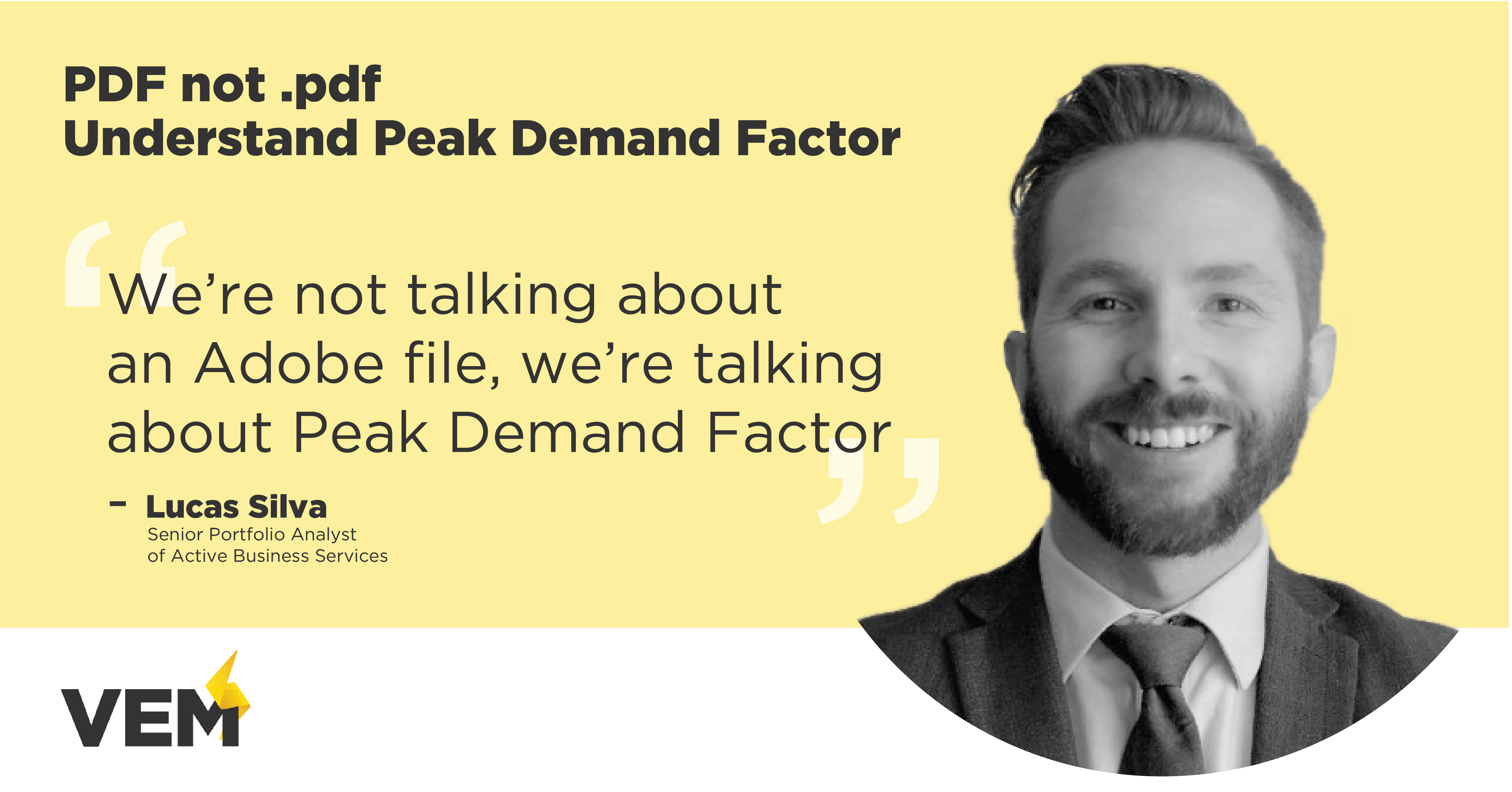 we're not talking about an adobe file, we're talking about Peak Demand Factor